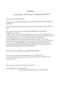 Starke Frauen - freche Weiber @ Rathaus Rheine